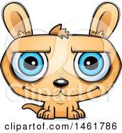 Clipart Of A Cartoon Happy Evil Kangaroo Royalty Free Vector Illustration