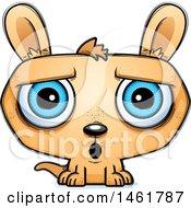 Clipart Of A Cartoon Surprised Evil Kangaroo Royalty Free Vector Illustration