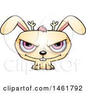Clipart Of A Cartoon Evil Jackalope Royalty Free Vector Illustration by Cory Thoman