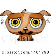 Clipart Of A Cartoon Scared Evil Puppy Dog Royalty Free Vector Illustration