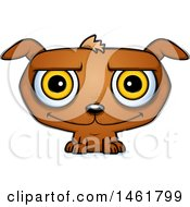 Clipart Of A Cartoon Happy Evil Puppy Dog Royalty Free Vector Illustration