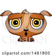 Clipart Of A Cartoon Surprised Evil Puppy Dog Royalty Free Vector Illustration