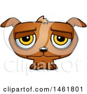 Clipart Of A Cartoon Sad Evil Puppy Dog Royalty Free Vector Illustration