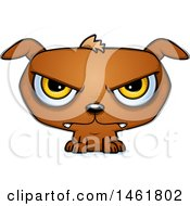 Clipart Of A Cartoon Mad Evil Puppy Dog Royalty Free Vector Illustration