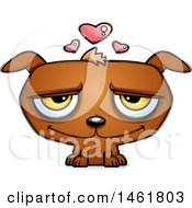 Clipart Of A Cartoon Loving Evil Puppy Dog Royalty Free Vector Illustration