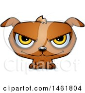 Clipart Of A Cartoon Evil Puppy Dog Royalty Free Vector Illustration
