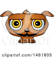 Clipart Of A Cartoon Grinning Evil Puppy Dog Royalty Free Vector Illustration