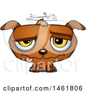 Clipart Of A Cartoon Evil Drunk Puppy Dog Royalty Free Vector Illustration