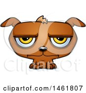 Clipart Of A Cartoon Bored Evil Puppy Dog Royalty Free Vector Illustration