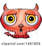 Clipart Of A Cartoon Suprrised Evil Devil Royalty Free Vector Illustration