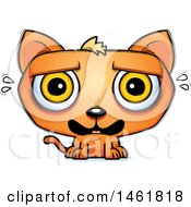 Clipart Of A Cartoon Scared Evil Orange Cat Royalty Free Vector Illustration by Cory Thoman