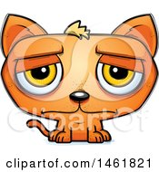 Clipart Of A Cartoon Sad Evil Orange Cat Royalty Free Vector Illustration by Cory Thoman