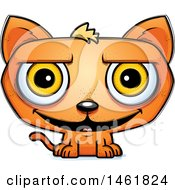 Clipart Of A Cartoon Grinning Evil Orange Cat Royalty Free Vector Illustration by Cory Thoman