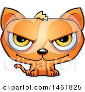 Clipart Of A Cartoon Evil Orange Cat Royalty Free Vector Illustration by Cory Thoman