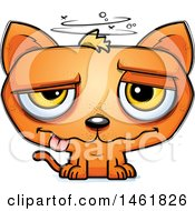 Clipart Of A Cartoon Drunk Evil Orange Cat Royalty Free Vector Illustration by Cory Thoman