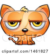 Clipart Of A Cartoon Bored Evil Orange Cat Royalty Free Vector Illustration by Cory Thoman