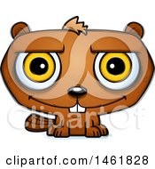 Clipart Of A Cartoon Smiling Evil Beaver Royalty Free Vector Illustration by Cory Thoman