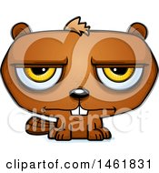 Clipart Of A Cartoon Bored Evil Beaver Royalty Free Vector Illustration by Cory Thoman