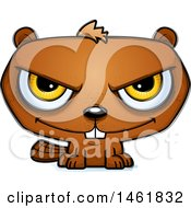 Clipart Of A Cartoon Evil Beaver Royalty Free Vector Illustration by Cory Thoman