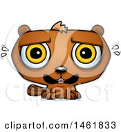 Clipart Of A Cartoon Scared Evil Beaver Royalty Free Vector Illustration by Cory Thoman