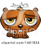Clipart Of A Cartoon Drunk Evil Beaver Royalty Free Vector Illustration by Cory Thoman