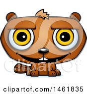 Clipart Of A Cartoon Happy Evil Beaver Royalty Free Vector Illustration by Cory Thoman