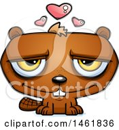 Clipart Of A Cartoon Loving Evil Beaver Royalty Free Vector Illustration by Cory Thoman