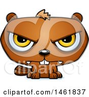 Clipart Of A Cartoon Mad Evil Beaver Royalty Free Vector Illustration by Cory Thoman