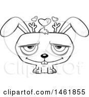 Cartoon Outline Loving Evil Jackalope