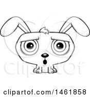 Cartoon Outline Surprised Evil Bunny Rabbit