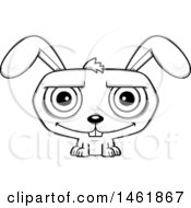 Cartoon Outline Happy Evil Bunny Rabbit