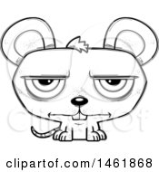 Cartoon Outline Bored Evil Mouse
