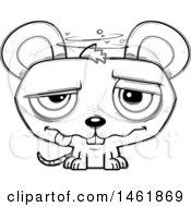 Cartoon Outline Drunk Evil Mouse