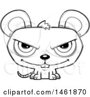 Cartoon Outline Evil Mouse