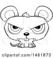 Cartoon Outline Mad Evil Mouse
