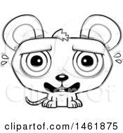 Cartoon Outline Scared Evil Mouse