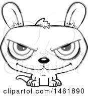 Cartoon Outline Evil Kangaroo
