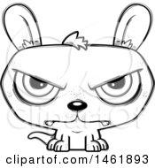Cartoon Outline Mad Evil Kangaroo
