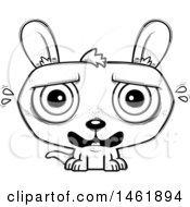 Cartoon Outline Scared Evil Kangaroo