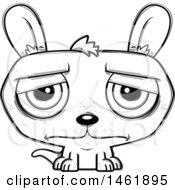 Cartoon Outline Sad Kangaroo