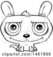 Cartoon Outline Happy Evil Kangaroo