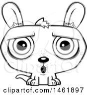 Cartoon Outline Surprised Evil Kangaroo