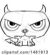 Cartoon Outline Mad Evil Devil