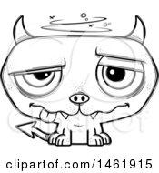 Cartoon Outline Dizzy Evil Devil