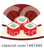 Clipart Of A Sushi Roll Design Royalty Free Vector Illustration by Vector Tradition SM