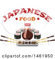 Clipart Of A Sushi Design Royalty Free Vector Illustration