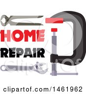 Clipart Of A Home Repair Design Royalty Free Vector Illustration