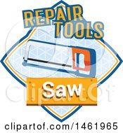 Clipart Of A Saw Tool Design Royalty Free Vector Illustration