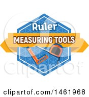 Clipart Of A Measuring Tool Design Royalty Free Vector Illustration