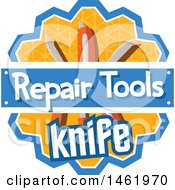 Clipart Of A Knife Tool Design Royalty Free Vector Illustration